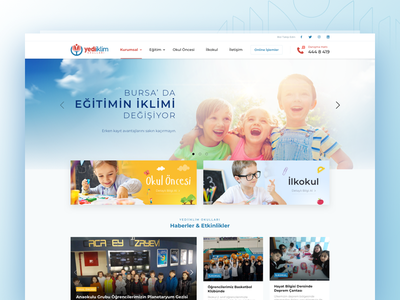 School UI Design school primary-school pre-school kindergarten