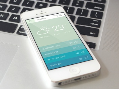 Weather Application app application mobile ux uı user interface weather