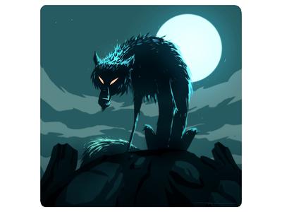 Lone Wolf visualdevelopment digitalart wolf vector illustration