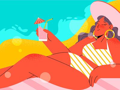 SUMMER beach vacation summer illustration