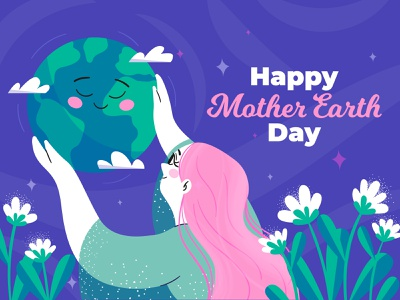 Mother earth mother earth day earth characterdesign illustration