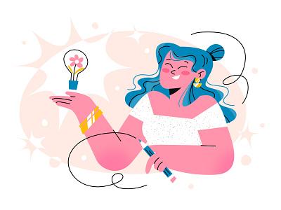 Creative solutions characterdesign illustration