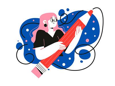 The illustrator illustrator girl creating characterdesign illustration