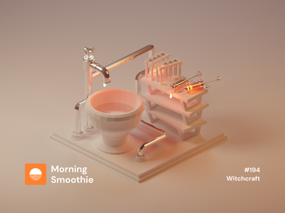 Witchcraft witches potions potion piping pipe tap syringe witchcraft witch magic isometric design 3d art low poly diorama isometric illustration blender blender3d isometric 3d illustration