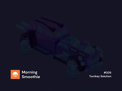 Turnkey Solution machinery limo truck car futurist scifi hover 3d animation animation animated isometric design 3d art low poly diorama isometric illustration blender blender3d isometric 3d illustration