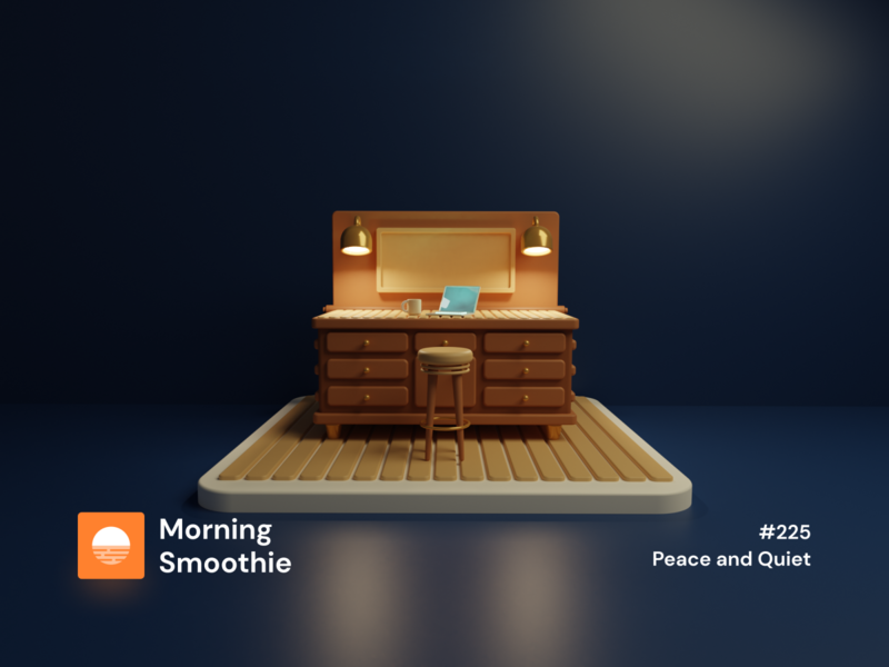Peace and Quiet room work desk desktop workstation wooden wood workshops workshop isometric design 3d art low poly diorama isometric illustration blender blender3d isometric 3d illustration