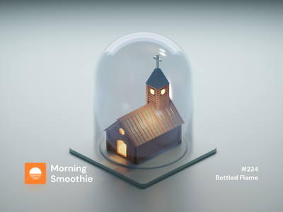 Bottled Flame religious church design religion christ clayrender clay church isometric design 3d art low poly diorama isometric illustration blender blender3d isometric 3d illustration