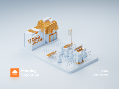 What Rules? minimal contrast clayrender clay render clay ui design ui landing page design landing page landing isometric design 3d art low poly diorama isometric illustration blender blender3d isometric 3d illustration
