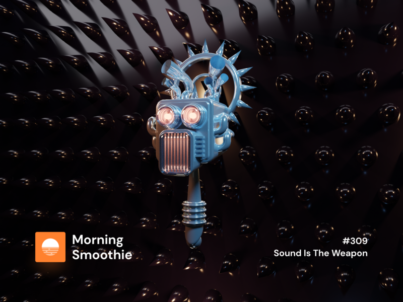 Sound Is The Weapon machinelearning evil robots machines machinery machine learning ai sound machine robot isometric design 3d art low poly diorama isometric illustration blender blender3d isometric 3d illustration