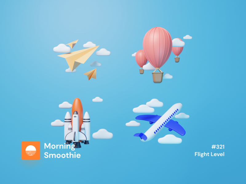 Flight Level icons design iconography icon design icons pack icons icon set iconset icon isometric design 3d art low poly diorama isometric illustration blender blender3d isometric 3d illustration