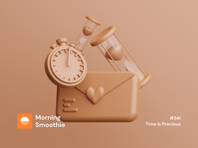 Time Is Precious timer time stopwatch mail iconography icon design icon set icons icon isometric design 3d art low poly diorama isometric illustration blender blender3d isometric 3d illustration
