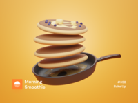 Bake Up breakfast club breakfast pancakes pancake foodie food illustration food isometric design 3d art low poly diorama isometric illustration blender blender3d isometric 3d illustration