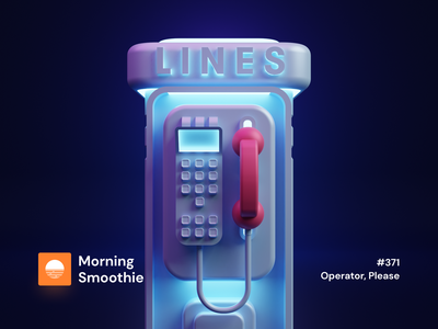 Operator, Please caller call connect phone app phones payphone phone booth phone line phone isometric design 3d art low poly diorama isometric illustration isometric blender blender3d 3d illustration
