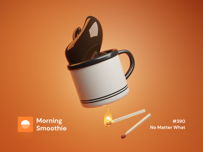 No Matter What matches match fire light coffe coffee bean coffeeshop coffee shop coffee cup coffee isometric design 3d art low poly diorama isometric illustration isometric blender blender3d 3d illustration