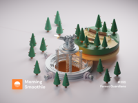 Forest Guardians park nature forest isometric design 3d art low poly diorama isometric illustration isometric blender blender3d 3d illustration