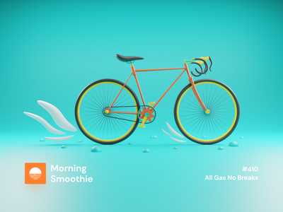 All Gas No Breaks cyclist cycling cycle bicycling bicycles bikes bicycle fixie bike isometric design 3d art low poly diorama isometric illustration isometric blender blender3d 3d illustration