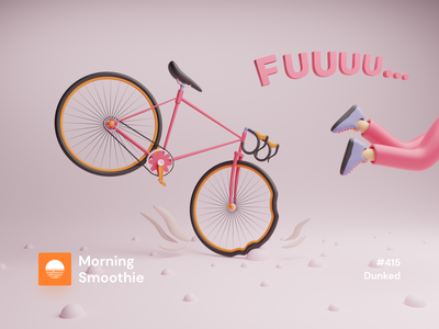 Dunked bicycles cyclists bicycle cyclist cycling bikes accident bike isometric design 3d art low poly diorama isometric illustration isometric blender blender3d 3d illustration