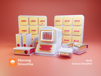 Science Simplified furniture binder floppydisk floppy disk clayrender mac pc desktop clay toy isometric design 3d art low poly diorama isometric illustration isometric blender blender3d 3d illustration
