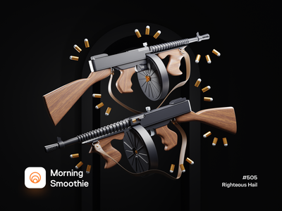 Righteous Hail guns tommy blood bullet gaming video game machine gun gun tommy shelby isometric design 3d art low poly diorama isometric illustration isometric blender blender3d 3d illustration