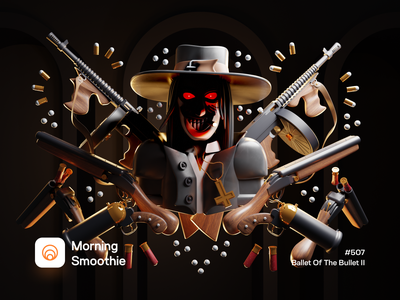 Ballet Of The Bullet II characters character design character shotgun gun cult blood caleb moody dark isometric design 3d art low poly diorama isometric illustration isometric blender blender3d 3d illustration