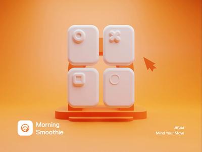 Mind Your Move 3d architecture 3d animation animated animation ui animation uidesign ui 3d artwork 3d artist isometric design 3d art low poly diorama isometric illustration isometric blender 3d blender3d illustration
