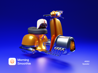 Speeder future retro 3d illustration 3d artwork 3d artist hover hoverboard bike scooter futuristic isometric design low poly 3d art diorama isometric illustration isometric blender blender3d 3d illustration