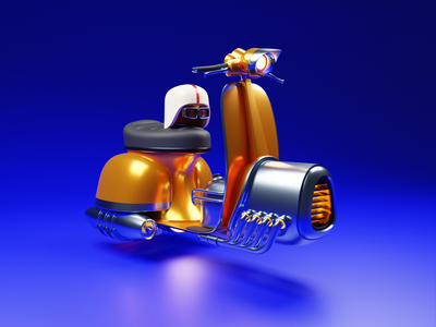Speeder future retro 3d illustration 3d artwork 3d artist hover hoverboard bike scooter futuristic isometric design low poly 3d art diorama isometric illustration isometric blender blender3d 3d illustration