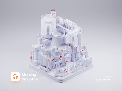 Boiler Room III factory machinery machines machine robot clayrender clay 3d animation animated animation isometric design low poly 3d art diorama isometric illustration isometric blender blender3d 3d illustration