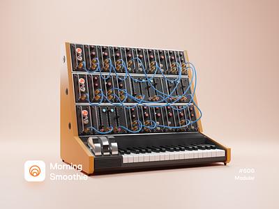 Modular piano keyboards keys keyboard modular design modular synthesizer musician music player synth isometric design low poly 3d art diorama isometric illustration isometric blender blender3d 3d illustration