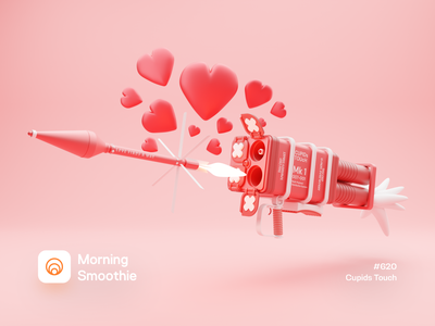 Cupids Touch lovers love hearts missile rockets rocket launch rocket valentine day valentine heart isometric design low poly 3d art diorama isometric illustration isometric blender blender3d 3d illustration