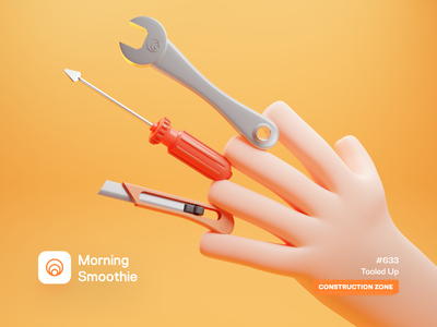 Tooled Up 3d artwork hand constructor constructions construction wrench knife tools screwdriver tool isometric design low poly 3d art diorama isometric illustration isometric blender blender3d 3d illustration