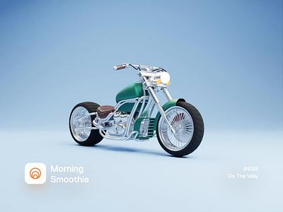 On The Way motorcycles motorbikes motorcycle motorbike bike animated animation isometric design low poly 3d art diorama isometric illustration isometric blender blender3d 3d illustration