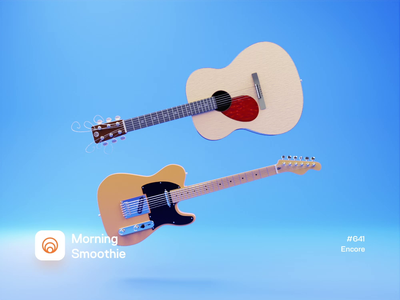 Encore music player music musicians guitar pick guitarist guitars musician guitar isometric design low poly 3d art diorama isometric illustration isometric blender blender3d 3d illustration
