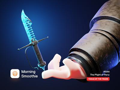 The Plight of Parry ancient armor blades blade daggers swordsman swords medieval dagger sword isometric design low poly 3d art diorama isometric illustration isometric blender blender3d 3d illustration