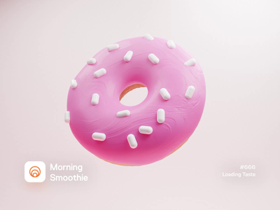 Loading Taste donuts candy treat sweets sweet 3d animation animated animation loading animation loading spinner donut design diorama isometric illustration isometric blender blender3d 3d illustration