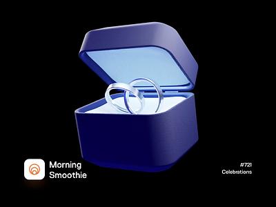 Celebrations married marriage engaged engagement ring box ring 3d animation animation animated isometric illustration isometric blender blender3d 3d illustration