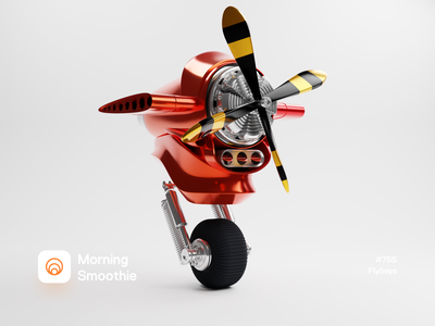 Flyboys prop plane prop travelling travel airplane plane mechanical mech engine isometric illustration isometric blender blender3d 3d illustration