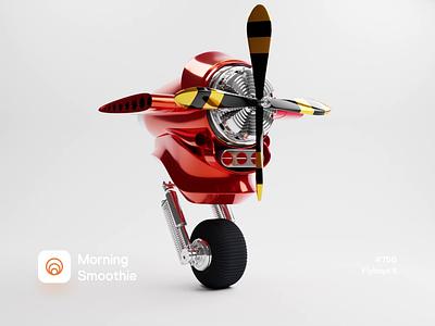 Flyboys II mechanical mech flight fly airplane plane prop engine 3d animation animation animated isometric illustration isometric blender blender3d 3d illustration