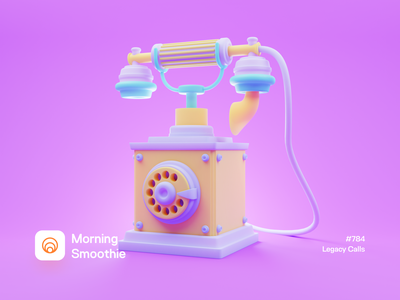 Legacy Calls clay rotary phone rotary telephone call ancient old retro phone toy playful colorful color diorama isometric illustration isometric blender blender3d 3d illustration