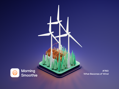 What Becomes of Wind windmill sustainability sustainable green energy green wind power wind isometric illustration isometric blender 3d blender3d illustration
