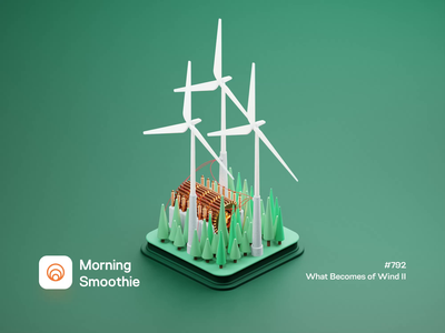 What Becomes Of Wind II nature forest wind windmill generator power generation electricity electric 3d animation animated power animation isometric illustration isometric blender blender3d 3d illustration