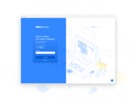 Login page for a product!