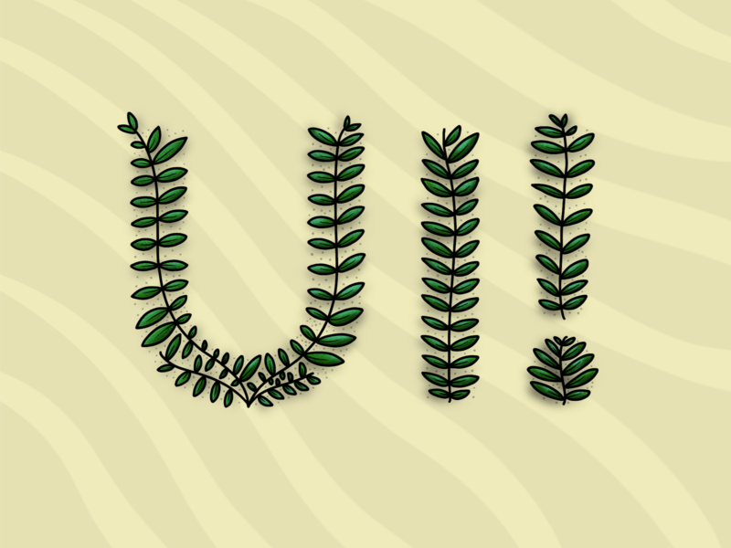 User Interfaces typographic procreate typography art nature handdrawn illustration
