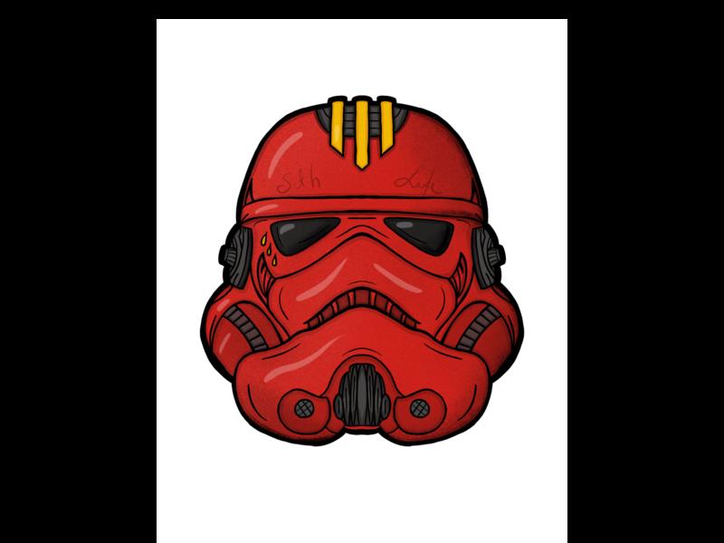 Trooper stormtrooper empire starwars pen apple procreate handdrawn 2d illustration