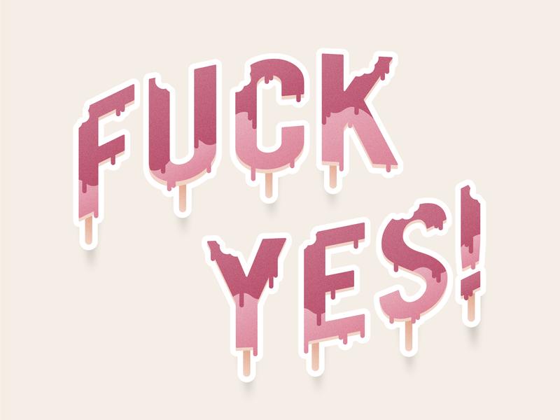 Ice Cream! illustrator icecream motivation letters lettering typography vector illustration