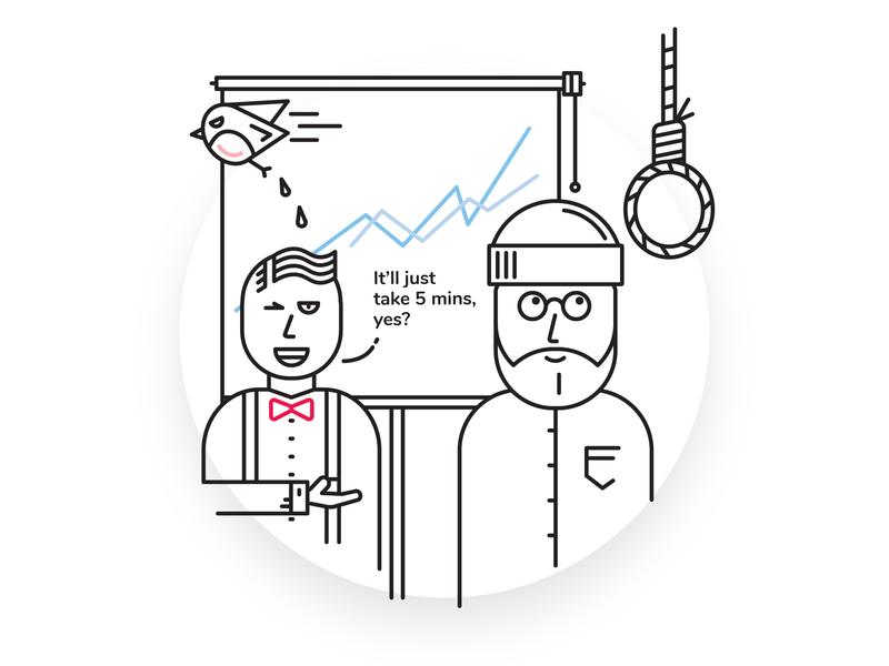 5 Minutes clients designtroubles comic art comic design character detailed line clean minimal 2d vector illustration