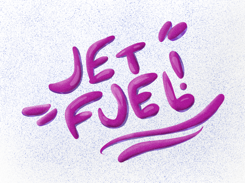 Jet Fuel hand drawn hand lettering handlettering texture white pink typo typogaphy type typography lettering logo lettering
