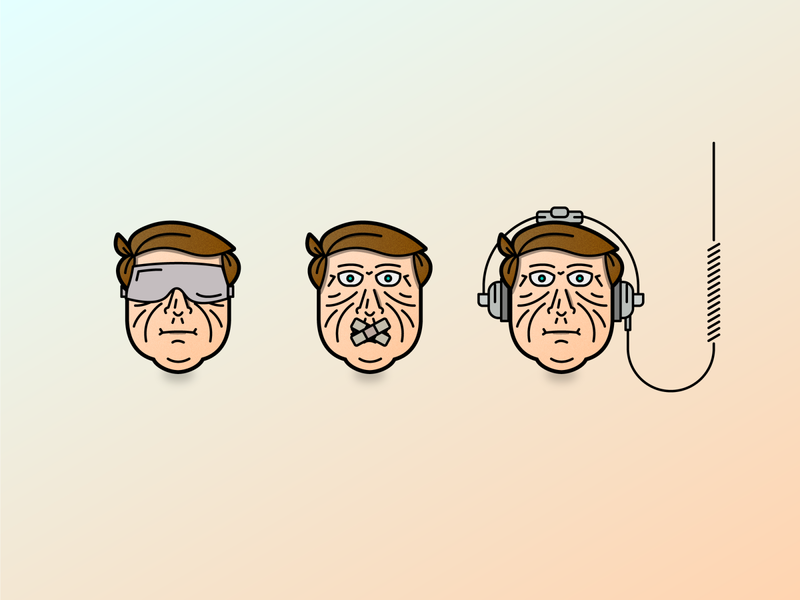 Faces headphone faces face character design branding design character detailed line clean minimal 2d vector illustration