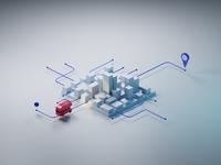 Citymap with a Double-Decker