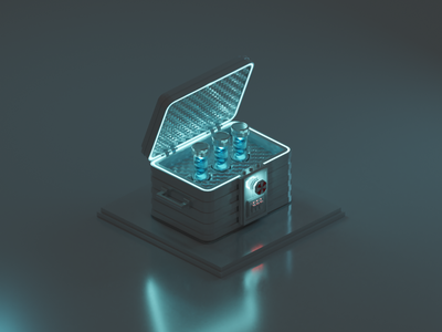 T-Virus technology science video game art resident evil survive survival horror umbrella video games video game isometric design 3d art low poly diorama isometric illustration blender blender3d isometric 3d illustration